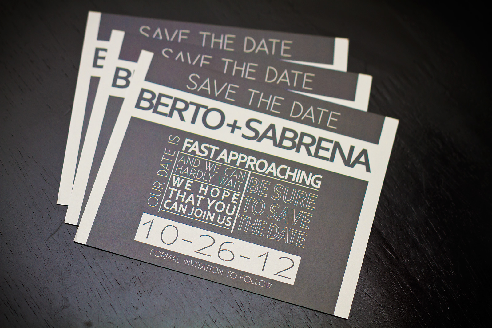 Custom Designed Save The Date card for a Wedding - Peoria, IL